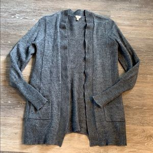 J.Crew gray open cardigan with pockets!  Small